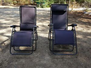 TWO Folding Recliners