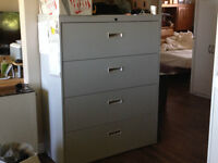 4 TIER LATERAL FILING CABINET