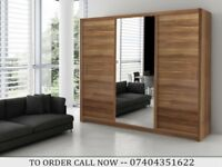 High Grade German Wardrobe in 2 or 3 mirrored sliding doors - various colors and sizes