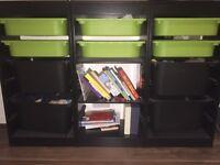 3 Storage units with trays