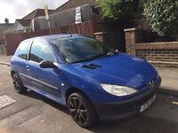 PEUGEOT 206 1.1 PETROL, MANUAL, 3-DOOR HATCHBACK***MOT TILL 10th MARCH 2017***GENUINE PX TO CLEAR
