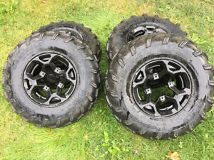 """26"""" stock Can Am Outlander Rims and Tires"""