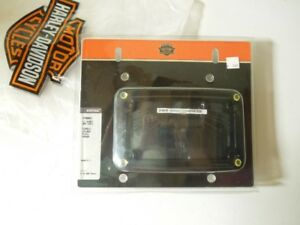 Harley Davidson Softail Curved License Plate Frame Black NEW