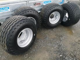Agri trailer wheels farm trailer silage bale