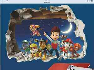 SOLD ****  Paw Patrol 3D Wall Sticker