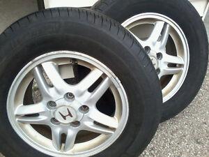 Michelin X-Radials on Honda CR-V Alloys