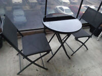 Folding Glass Patio Table & Chairs