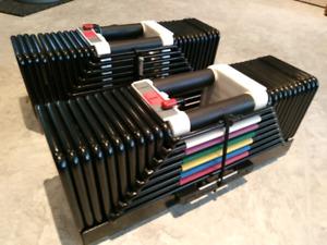 5-125 lb adjustable powerblock dumbbells