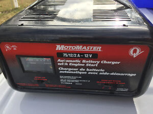 MotoMaster Battery Charger & Engine Starter (2A, 12A, 75A - 12V)