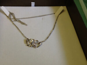 Silver and Diamond Necklace, Brand new never worn