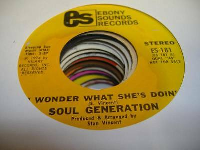 Hear  Northern Soul Sweet Promo 45 Soul Generation I Wonder What Shes Doin On