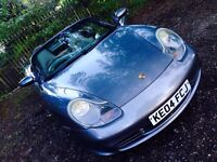 Get Ready Summer Grey 2004 Porsche Boxster Convertible 2.7 MOT Clear White Lights Front and Back