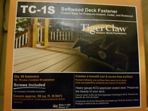 Tiger claw deck fasteners