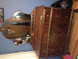 Antique dresser with mirror -  gorgeous dark finish