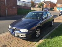 ALFA ROMEO 156 T SPARK 2001 4 DOOR 2.0 MOTD DRIVES LOVELY FULL TANK OF PETROL