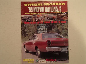1999 OFFICIAL MOPAR NATIONALS PROGRAM AT NATIONAL TRAIL RACEWAY, Sarnia Sarnia Area image 1