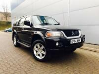 2004 54 Reg Mitsubishi Shogun Sport 3.0 V6 auto Warrior + BLACK + BLACK LEATHER