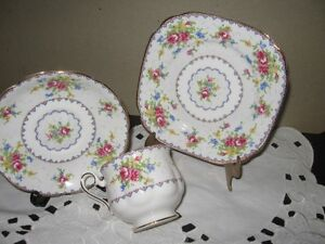 Royal Albert 'Petit Point' Trio (Cup. Saucer, Bread/n Butter)