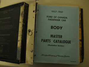 1957-1961 Body Master Parts Catalog Original From Ford