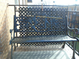 Outdoor, cast iron bench