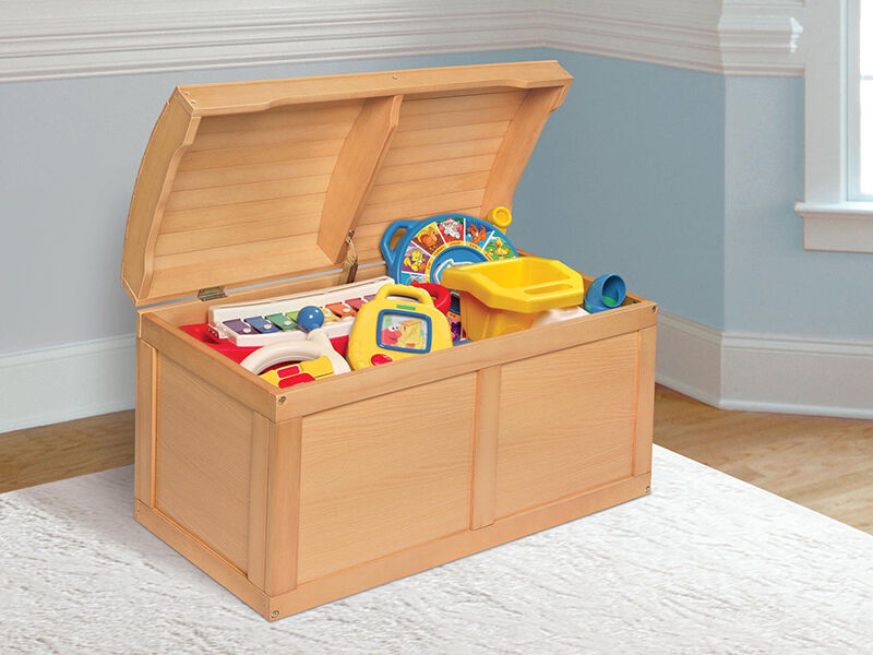 Badger Barrel Top Wood Toy Chest