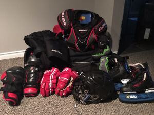 youths hockey equipment - complete