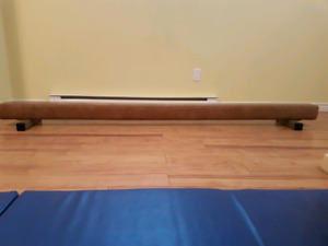 8 foot suede gymnastic beam in excellent shape