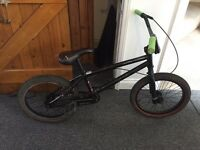 Boys black bmx bike