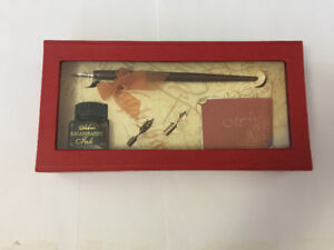 Lovely Calligraphy Set with Pen, 2 added Nubs & an Ink Bottle