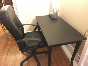 Desk & Comfy Office Chair