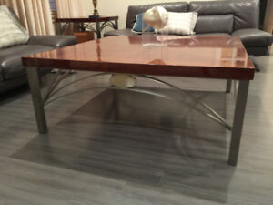Luxury Italian Coffee Table w/ brushed stainless steel