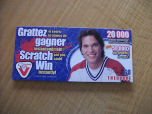 2003 Vachon Foods Scratch & Win Jose Theodore (B(123)