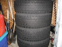 4 Winter Tires on Steel Rims.
