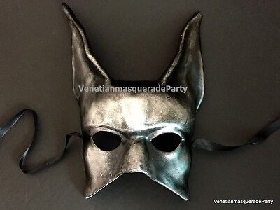 Black Silver Jackal Mask Anubis Egypt Egyptian Dog Halloween costume Dress up (Egyptian Jackal Mask)