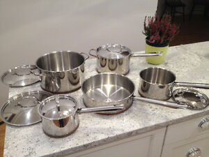Lagostina Copper-bottom cookware pots and pans