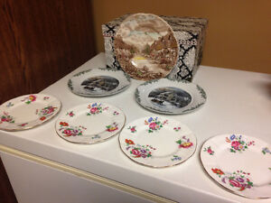 Collection of Royal Albert old dessert plates
