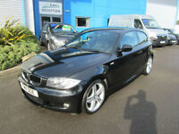 BMW 118 2.0d M Sport 3 Door Black Full Service LOW MILEAGE