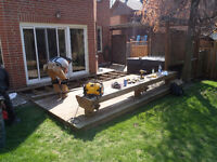 DECK FENCE BUILDING SANDING SPRAYING STAIN PERGOLA CABANA