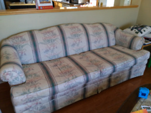 Sofa with 1 matching chair - reduced price