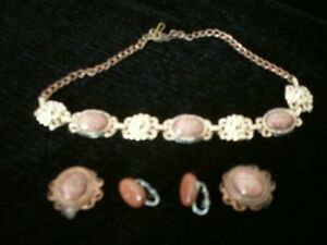 Vintage goldstone jewellery