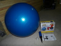 Anti-Burst Yoga Exercise Ball with Pump and Hand Pump