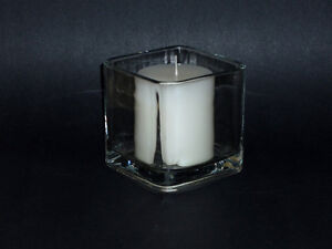 Square Glass Candle Holder ... Indoors or Outdoors Cambridge Kitchener Area image 2