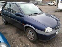 2000 Vauxhall Corsa 1.2i 16V CDX 92K FSH 3Dr Blue Alloys Long Mot VGC