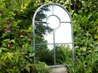 New Industrial Arch Garden Metal Mirror- Large Rounded 7 Panel 3356