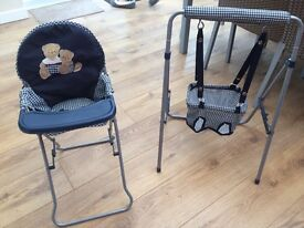 Doll accessories- highchair,swing and bag