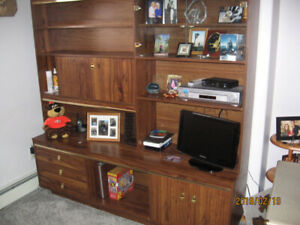 FREE - Brown Wall Unit - you must pick up