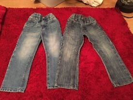 2 Pairs Of boys Next jeans age 4
