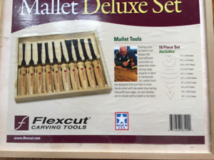 Deluxe Mallet Carving tool set