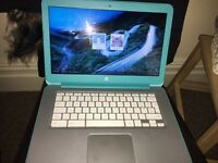 Light blue Hp laptop.
