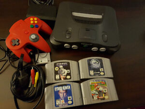 Nintendo 64 gaming system with games